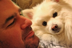 My two loves, Skip & Zeke as I captured them sharing a cuddle (Feb 6, 2012)