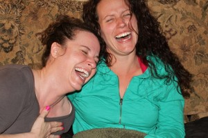 Me and my Sissy. Pure, unadulterated joy. (April 2012)