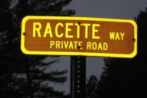 (Street sign in Lake Placid, New York)