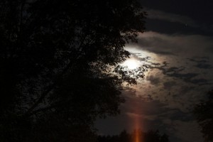 Late August Moon in Glens Falls, New York (2012)