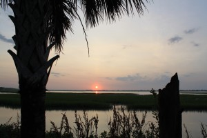 Sunrise in Murrells Inlet, SC (July 12, 2015)